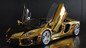 Lamborghini carved out of solid gold